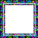 Stained-Glass Abstract Square Frame Royalty Free Stock Image