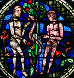 Stained Glass - Adam and Eve Royalty Free Stock Photos
