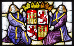 Stained glass  Alcazar of Segovia.spain Royalty Free Stock Image