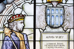 Stained glass  Alcazar of Segovia.spain Stock Photography