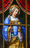 Stained Glass - Allegory on the Suffering of Jesus Royalty Free Stock Images