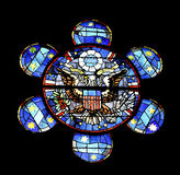Stained glass American eagle Stock Photos