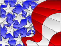Stained glass american flag Stock Photo