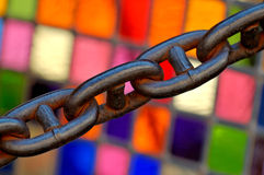Stained Glass And Chain Royalty Free Stock Photo