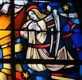 Stained Glass -  Angel Stock Image