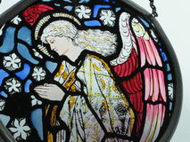 Stained Glass Angel Royalty Free Stock Photo