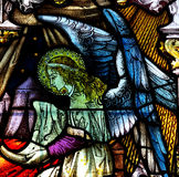 Stained glass angel. Stained glass window with an angel Royalty Free Stock Photos