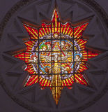 Stained Glass Angels Holy Spirit Cathedral Granada Spain Royalty Free Stock Photography