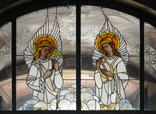 Stained Glass Angels Stock Photos