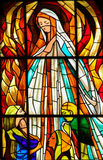 Stained Glass - Apparition Of Virgin Mary In Fatima Stock Photos