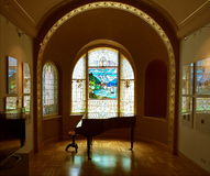 Stained glass art gallery. Royalty Free Stock Photos