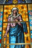 Stained glass artwork in pilgrimage Tindari Sicily Stock Images