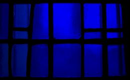Stained glass background. Vibrantdark blue stained glass background image Stock Photo