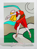 Stained glass - ballet lady Stock Images