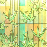 Stained glass with bamboo texture Stock Photo