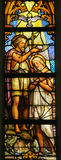 Stained Glass - Baptism of Christ Stock Images