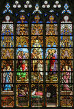Stained Glass - Baptism of Jesus in the River Jordan by Saint Jo Stock Photo