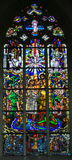 Stained Glass - Baptism of Jesus by Saint John the Baptist Royalty Free Stock Photos