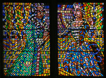 Stained Glass - Baroque Couple Stock Images