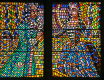 Stained Glass - Baroque Couple Royalty Free Stock Image