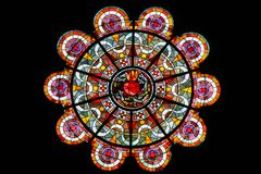Sacred Heart of Jesus - Stained Glass in Sacre Coeur, Paris stock photography