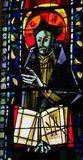 Saint Ignatius of Loyola - Stained Glass in Paris royalty free stock photo