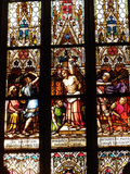 Stained glass in the Basilica. Prague Royalty Free Stock Photography