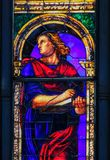 Stained Glass of St John the Evangelist Royalty Free Stock Images