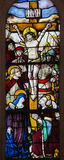 Stained Glass in Batalha Monastery - Crucifixion of Jesus Royalty Free Stock Photography
