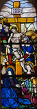 Stained Glass in Batalha Monastery - Crucifixion of Jesus Stock Photography