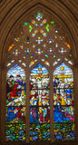 Stained Glass in Batalha Monastery - Crucifixion of Jesus Royalty Free Stock Photo
