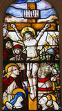 Stained Glass in Batalha Monastery - Crucifixion of Jesus Stock Photos
