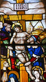Stained Glass in Batalha Monastery - Crucifixion of Jesus Royalty Free Stock Images