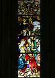 Stained Glass in Batalha Monastery - Three Kings Stock Photo