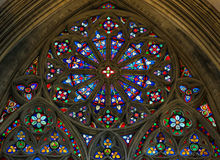 Stained Glass in Bayeux Cathedral Royalty Free Stock Photos
