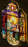 Stained Glass - Behold the Bread of Angels - Fatima, Portugal Royalty Free Stock Photography