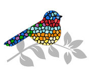 Stained glass bird Stock Images