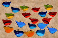 Stained glass birds Stock Image