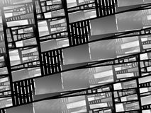 Stained glass black and white texture map. Computer generated abstract background, 3D rendering Royalty Free Stock Images