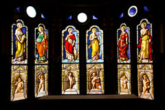 Stained glass from Blois Chateau Royalty Free Stock Photography
