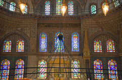 Stained glass at Blue Mosque Stock Photography