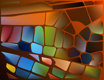 Stained glass with bright glowing glare. Stock Photography