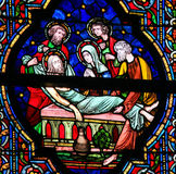 Stained Glass - Burial of Jesus Stock Images