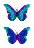 Stained glass butterflies - cdr format Royalty Free Stock Photo