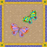 Stained glass butterfly Stock Photography