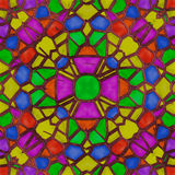 Stained glass caleidoscope Stock Photo