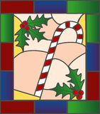 Stained Glass Candycane Royalty Free Stock Photos