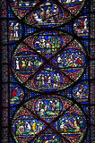 Stained glass canterbury royalty free stock image