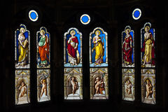 Stained Glass Castle of Blois, France (fr. château de Blois). Royalty Free Stock Images