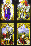 Stained Glass in Castle Stock Photography